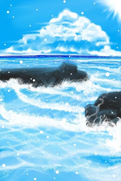 the ocean  | Dex.R | Digital Drawing | PENUP