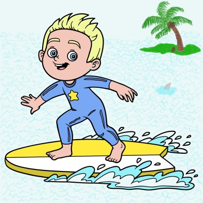 Surfer Boy | Trish | Digital Drawing | PENUP