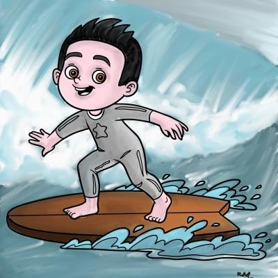 surfing | tinie | Digital Drawing | PENUP