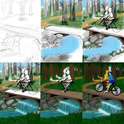 My Biking in the Woods drawing day by day | Terry627 | Digital Drawing | PENUP