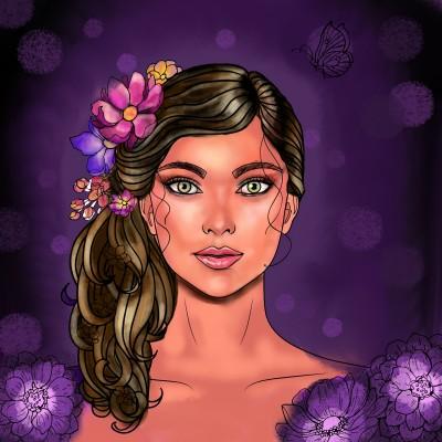purple bloom | Robyn | Digital Drawing | PENUP