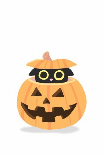 호박안에 고양이 Cat in pumpkin  | PupleCat | Digital Drawing | PENUP