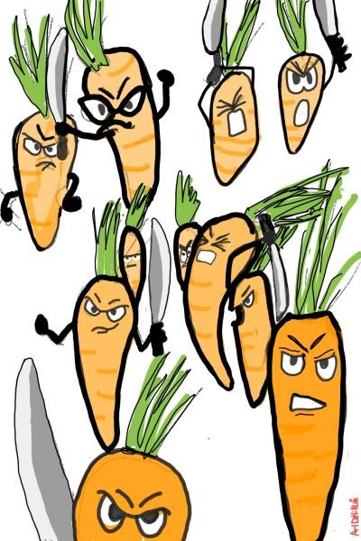 cutting carrots... | artNstillLife | Digital Drawing | PENUP