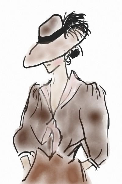 Coffee Stained Girl   Alishba_Asim   Digital Drawing   PENUP