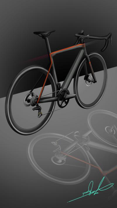 Road bike _Carbon fiber   | Yousif_Aqeel | Digital Drawing | PENUP