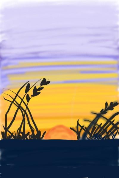 Purple Sunset | Avi | Digital Drawing | PENUP
