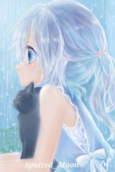 Thank you friend❤for Spotted_ Moon /Rainy day | azu | Digital Drawing | PENUP