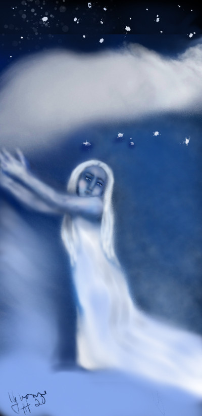 reaching out to heaven   whitehorse   Digital Drawing   PENUP