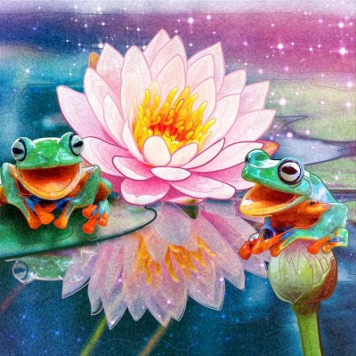 Frogs | Gaycouple | Digital Drawing | PENUP