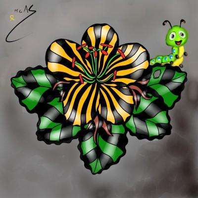 L'eruga i la flor    Carme   Digital Drawing   PENUP