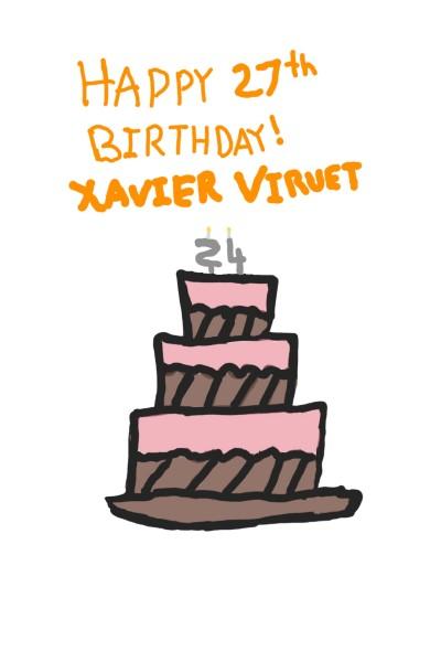 Birthday wish XavierViruet | Areno | Digital Drawing | PENUP