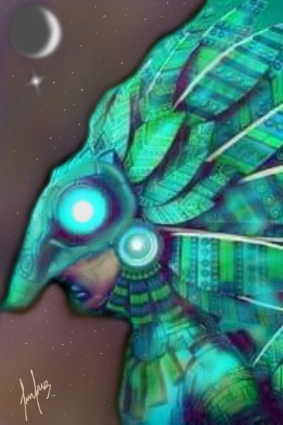 ÁGUILA EMPLUMADA  | cesar | Digital Drawing | PENUP