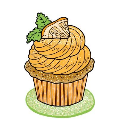 Orange Cupcake | Trish | Digital Drawing | PENUP