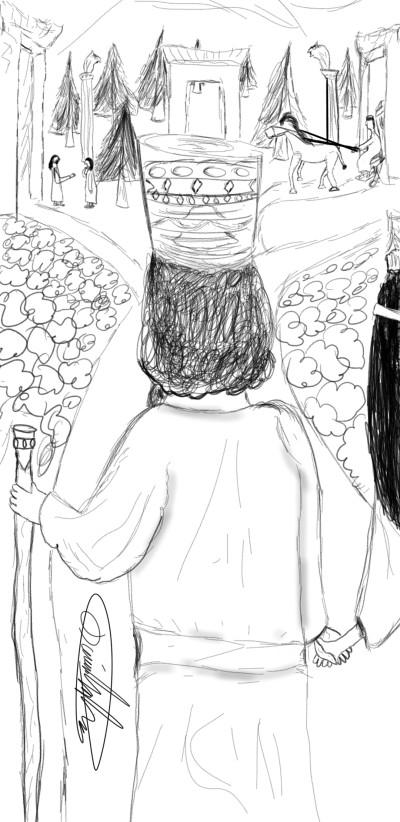 Cyrus&Cassandane | Hipstachio | Digital Drawing | PENUP