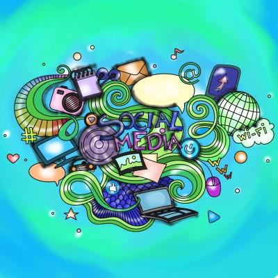 Social media connection  | Sylvia | Digital Drawing | PENUP