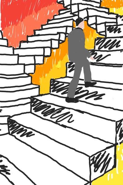 buisness man climbing stairs  | Candace_angel | Digital Drawing | PENUP