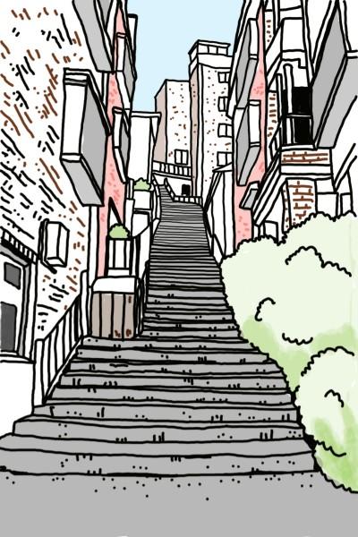 Stairs on the street | Natasha | Digital Drawing | PENUP