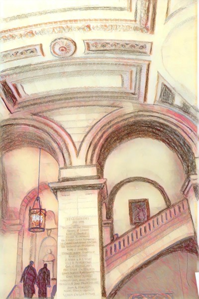 New York Library stairs | JoyOfSocks | Digital Drawing | PENUP