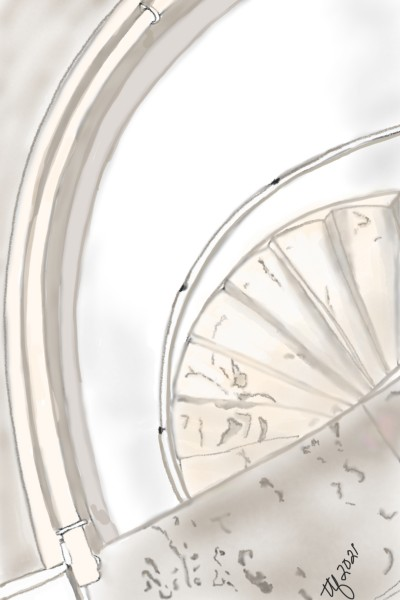 Architectural View, Stairs | TeeTee | Digital Drawing | PENUP
