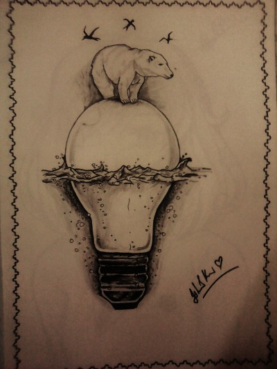 Bear's ride on a light bulb | Ishrah_khan.T | Digital Drawing | PENUP