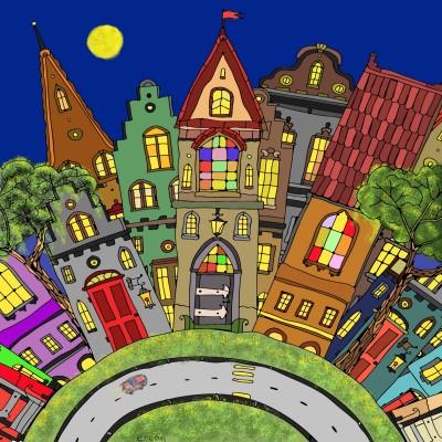 night in pleasantville | masterT | Digital Drawing | PENUP