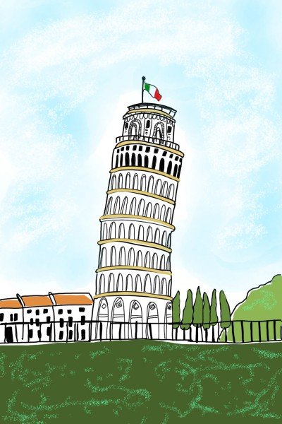 leaning tower of Pisa  | Sylvia | Digital Drawing | PENUP
