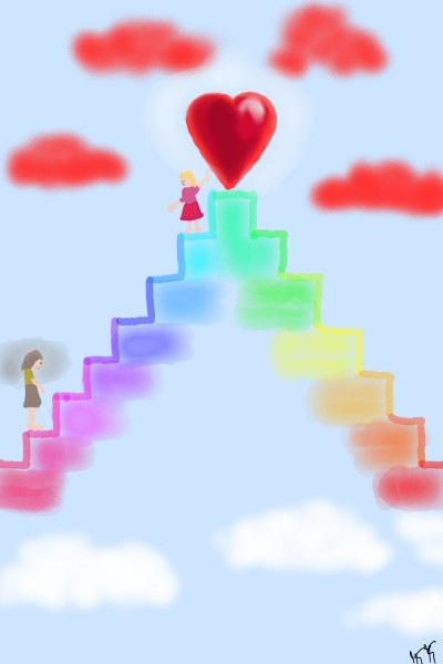"Regenbogentreppe "" Weg zur Liebe""  | Kufiti | Digital Drawing | PENUP"