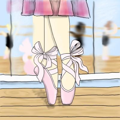 Ballerinas in Class   dancercmarie   Digital Drawing   PENUP