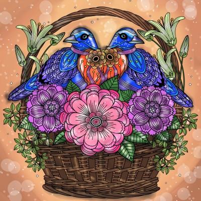 Love birds | Sylvia | Digital Drawing | PENUP