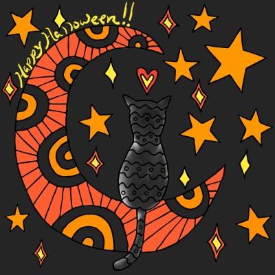 Halloween cat | zannenthala | Digital Drawing | PENUP