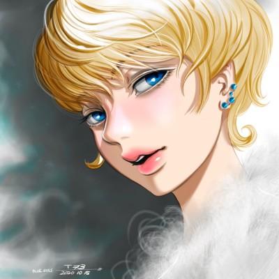 blue eyes  | tosi73 | Digital Drawing | PENUP