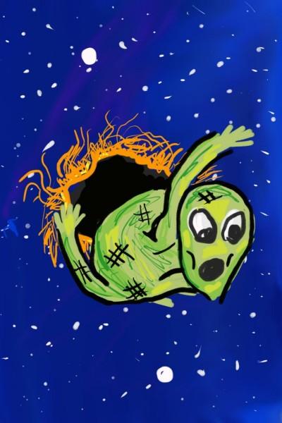 alien in the black hole    Amirflash   Digital Drawing   PENUP