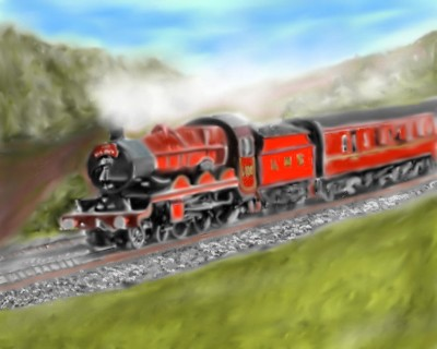 Steam Train    Mark349   Digital Drawing   PENUP