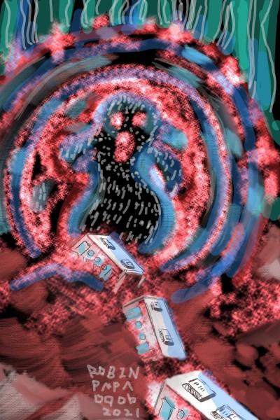 Train nightmare : Red Fog Monster | RobinPAPA | Digital Drawing | PENUP