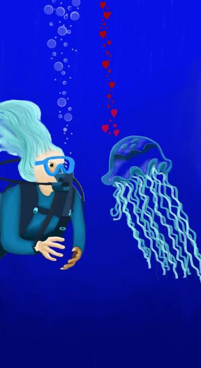 Jellyfish in Love collab with MissyJ   sherlock   Digital Drawing   PENUP