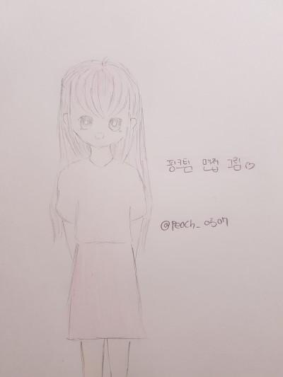 핑크팀 모집 그림   peach_0507   Digital Drawing   PENUP
