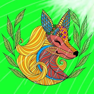 Fox in Sundaze   Mr.Fox   Digital Drawing   PENUP
