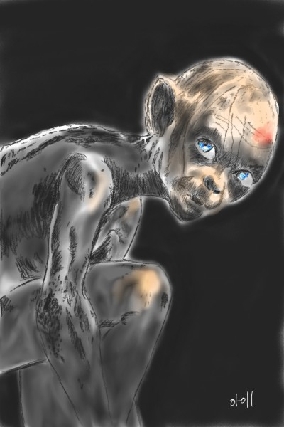 the Lord of the Rings/Gollum   oroll   Digital Drawing   PENUP