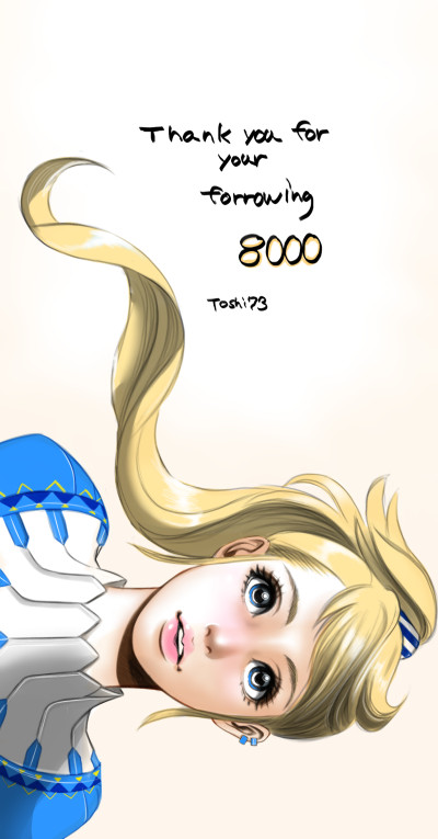 thank you so much for your follow 8000!! | tosi73 | Digital Drawing | PENUP