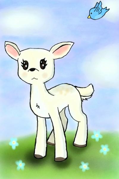 albino fawn ~~ albino deer | Zenovia | Digital Drawing | PENUP
