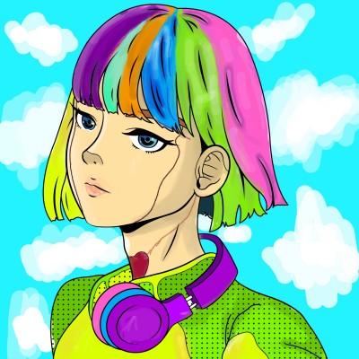 Coloring Digital Drawing | HeliSama | PENUP