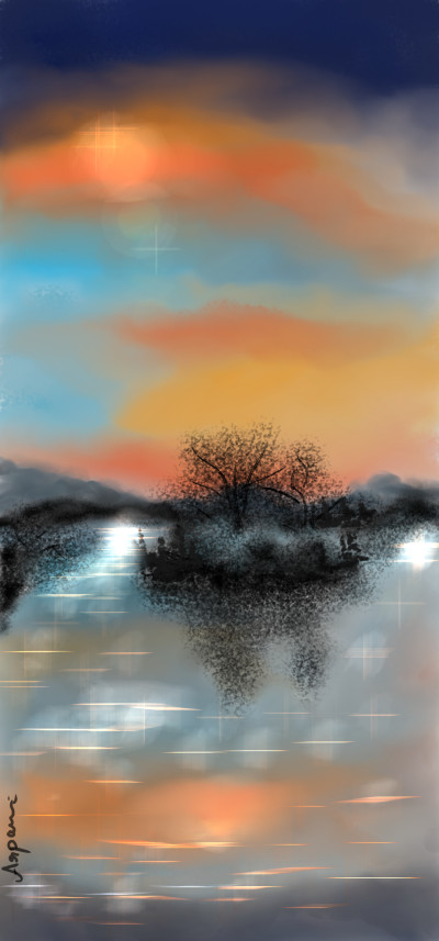 sunset | arpu | Digital Drawing | PENUP