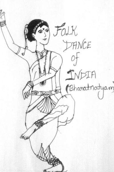 folk dance of India (Bharatnatyam)❤ | shreya | Digital Drawing | PENUP