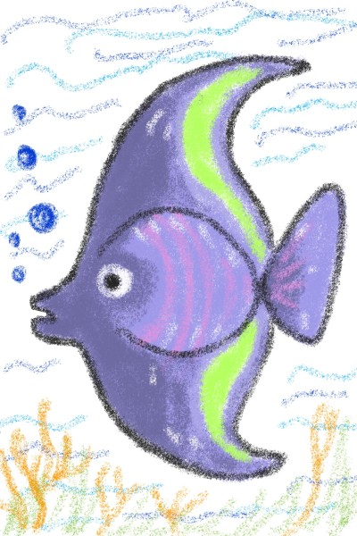 Purple Fish | Sylvia | Digital Drawing | PENUP