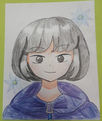 학교에서 한 친구 얼굴그리기 | BIN | Digital Drawing | PENUP