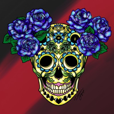 Skull and Flowers | missdarrian | Digital Drawing | PENUP