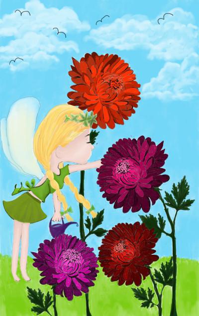 Fairy gardener collab with _cat_ | sherlock | Digital Drawing | PENUP