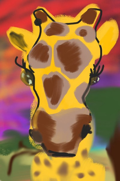 yellow cow with longneck | Qrockafeller | Digital Drawing | PENUP