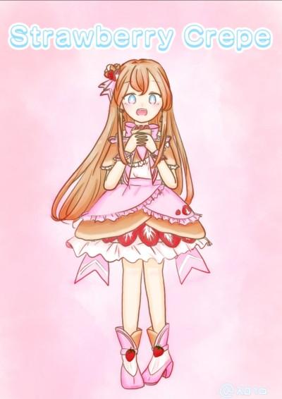 딸기 크레페의인화[Strawberry crepe personification ]   grapefruitgumi   Digital Drawing   PENUP