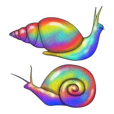Rainbow Snails | Luxurymapss.com | Digital Drawing | PENUP
